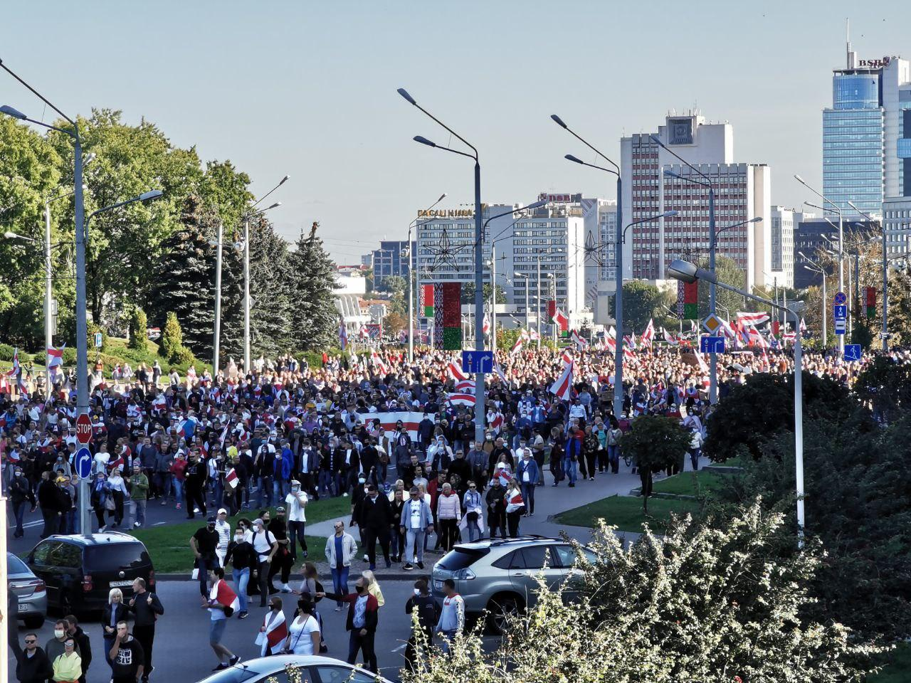 «Марш справедливости» прошел в Беларуси 20 сентября