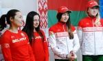 Надежда Скардино, Ирина Кривко, Динара Алимбекова и Дарья Домрачева