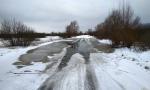 подтопленная дорога