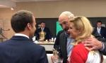 Лукашенко и президенты Хорватии и Франции. Скриншот с видео БелТА