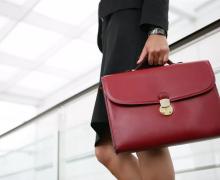 женщина с портфелем