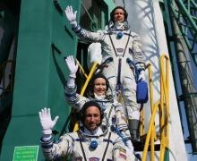 Киноэкипаж, МКС, режиссер, актриса, космонавт, фильм, Вызов, орбита, союз, состыковался, отправились, корабль, Байконур, космос, впервые