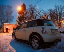 Ночью в Минске очищали MINI от снега. Что это было?