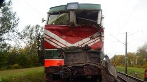 поврежденный поезд