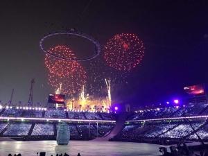 открытие олимпийских игр в Пхенчхане