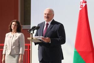 Лукашенко на открытии школы №93