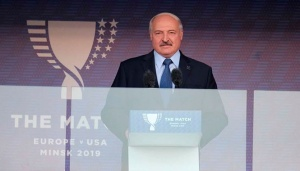 Александр Лукашенко, выступление на торжественной церемонии открытия легкоатлетического матча Европа - США
