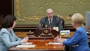 Александр Лукашенко,  рабочая встреча с председателем Центризбиркома Лидией Ермошиной, Кочанова, выборы, выборы в Беларуси