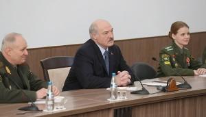 Лукашенко на встрече с курсантами Военной академии