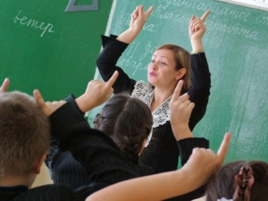 в школе учитель