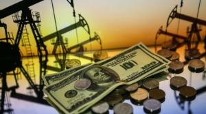 доллары, нефтяные вышки