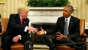 Дональд Трамп, Барак Обама, встреча, фото, Белый дом, США, выборы президента, акции протеста, против Трампа