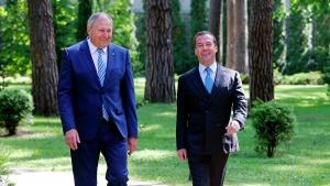 Дмитрий Медведев, Сергей Румас, встреча, 21 июня, Европейские игры,  переговоры, союзное государство, интеграция, Россия, Беларусь,