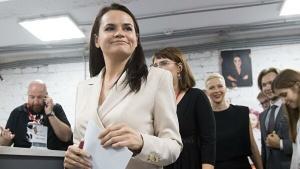 Эммануэль Макрон, Светлана Тихановская, выборы, визит в Литву, встреча Макрона с Тихановской, Беларусь, Науседа