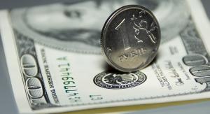 доллары и российские рубли