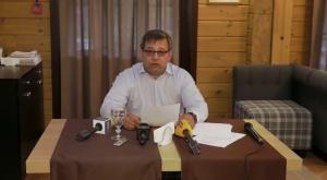 """Пресс-конференция Зайдеса. Скриншот с онлайн-трансляции телеканала """"Белсат"""""""
