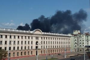 пожар возле Комаровки