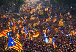 акция протеста в Каталонии