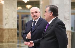 Лукашенко и Рахмон. Фото пресс-службы президента Беларуси