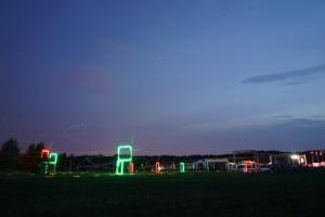 В Минске впервые прошла ночная гонка дронов