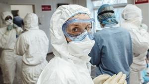 Коронавирус, ковид, COVID-19, врач, медик, жара, температура, воздуха, высокая, Беларусь, течение, тяжелое, болезнь, вирус, влияет, Тяжельников, больные,
