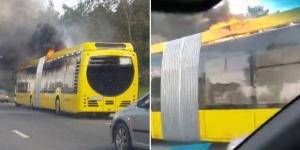 загорелся электробус