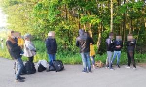 Граница, Литва, Беларусь, нелегалы, нелегальные, мигранты, стрельба, видео, акт, телексного, осмотра, побои, избиение, стрельба, насилие