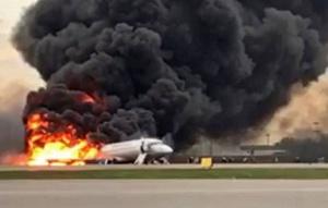загорелся самолет