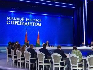 """Лукашенко на """"Большом разговоре с президентом"""". Фото Павлюка Быковского"""