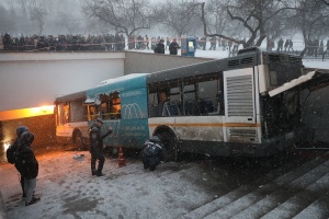место аварии в Москве