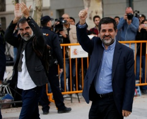 Каталония: арестованы два лидера сепаратизма за призывы к мятежу