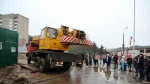Технику отводят со строительства Куропат