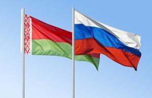 флаги Беларуси и России
