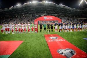 Сборные Беларуси и Франции перед началом матча