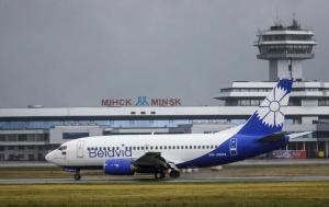 Белавиа, самолет, Минск, Тбилиси, Беларусь, Грузия, борт, Вильнюс, Belavia, ветер, погода, условия, не смог, приземлиться, кампания, белгидромет, порывы, погода