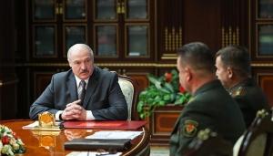 Александр Лукашенко, доклад, Станислав Зась, Андрей Равков,  Павел Тихонов, НАТО, учения, военные