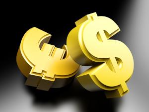 значки долларов и евро