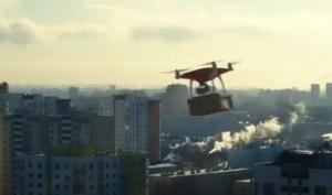 В Беларуси предложили доставлять товары на квадрокоптерах по воздуху