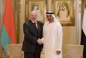 Лукашенко и Наследный принц Абу-Даби, заместитель Верховного Главнокомандующего Вооруженными Силами ОАЭ шейх Мухаммед бен Заид аль-Нахайян