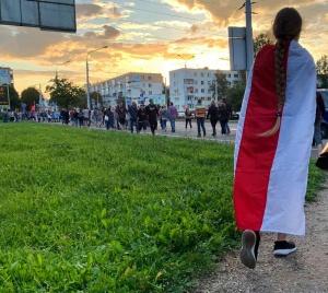 митинг Светланы Тихановской, 30 июля, Минск, площадь Бангалор, Вероника Цепкало, Мария Колесникова