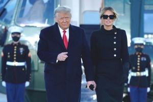 Трамп и Маланья покинули Белый дом за несколько часов до инаугурации