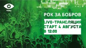 Фестиваль «Рок за Бобров», онлайн трансляция, VOKA, velcom
